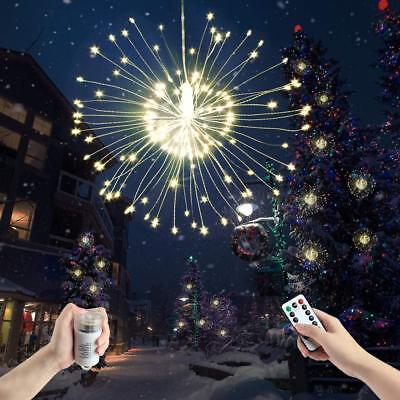 Christmas Hanging Starburst Fairy Twinkle String Light,8 Modes Waterproof 120LED