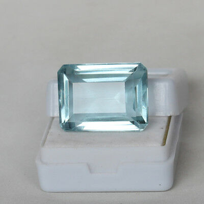 22.45 Ct Natural Aquamarine Greenish Blue Color Octagon Cut Loose Certified Gem