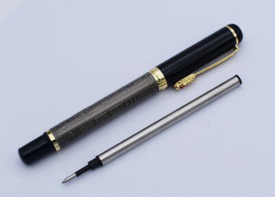 Wing Sung 687 Rollerball Pen - Wingsung Ancient Gray Signature Writing Pen