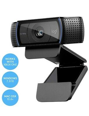 Logitech 1080P HD Pro C920Video Calling & Recording with Dual Stereo Audio Mic