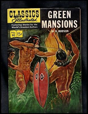 Classics Illustrated #90 Vg+ Hrn148 (Green Mansions) Free Shipping On $15 Order!