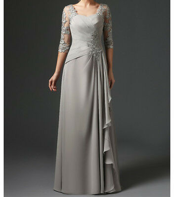 SILVER A LINE Mother of the Bride Dresses Plus Size with ...