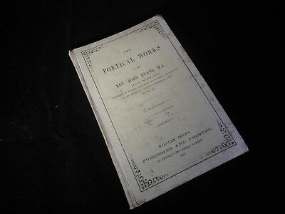 REV JOHN EVANS: THE POETICAL WORKS, William Penney, 1859, 1st edition OXON