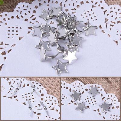 20X Metal Star Brads Pastel Scrapbook Card Making Stamping Craft DIY Jewelry LY