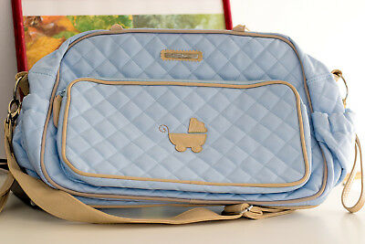 Mayoral Pale Blue Quilted Baby Changing Bag, Bolso carrito bebé