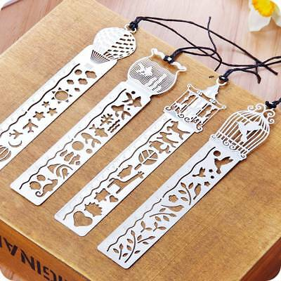 Creative Metal Delicate Cutout Bookmark Tape Ruler Marker Bookmarks Stationery
