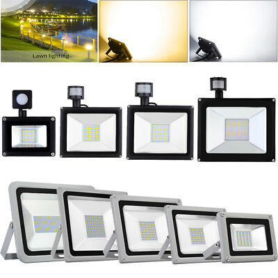 PIR Sensor LED Floodlight 10/20/30/50/100/150/300W/500/1000W Outdoor Flood Lamp