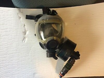 MSA CBRN Gas Mask With Canister And Gentex Quick Disconnect Assy