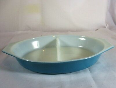 VINTAGE PYREX OVENWARE 1 1/2 QUART DIVIDED DISH MADE IN USA BAKING SERVING No.25