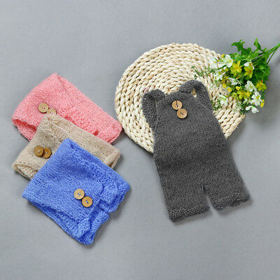 Newborn Babys Knit Crochet Clothes Costume Photo Photography Props Outfit CC