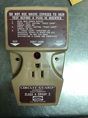 Vintage Hubbell Circuit Guard Gfp-115a Ground Fault Interrupter-NEW! SHIPS FREE