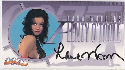 James Bond The Women Of A5 Lana Wood Plenty O'toole Diamonds R Forever Autograph