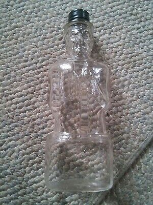 000 Vintage Lincoln Foods Bank Bottle Lawrence Mass Clear Glass