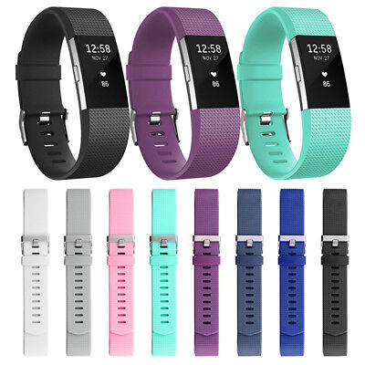 New For Fitbit Charge2 Straps Bracelet Replacement Silicone Sports Wristband L/S