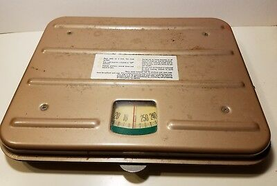 Vintage Borg Brown Industrial Working Tabletop Line Scale Zero -260 Pounds!