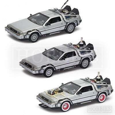 Welly Back to the Future Delorean 1:24 Model Car BTTF 1 2 3 Movie Time Machine