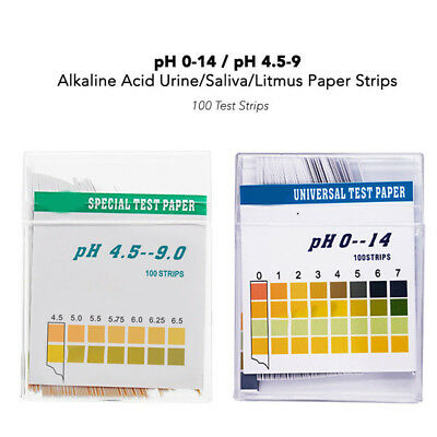 100Pcs Ph Test Strips ph 4.5-9.0 Alkaline Acid Urine Saliva Litmus Paper Sticks