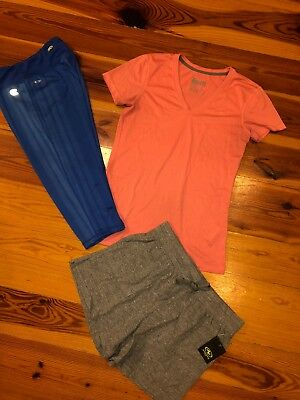 Lot Of 3 Womens Small, Nike T-shirt, Athletic Shorts, Colosseum Capris