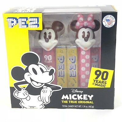 Pez Dispenser Disney 90 Years Mickey and Minnie Mouse Twin Box 2018