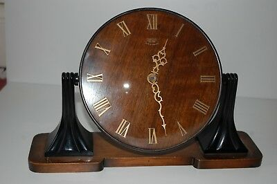 Smiths Wooden Face Sectric Mantle Clock