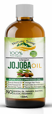 Nature Shine 100% Pure Golden Jojoba Oil Organic Cold pressed Hair & Skin 150ml