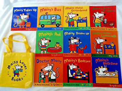 Maisy Mouse Set Of 10 Books In Waterproof Canvas Bag Lucy Cousins Christmas gift