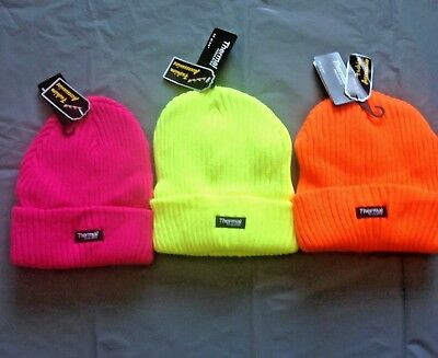 HI VISIBILITY THERMAL HAT WINTER WORK NEON