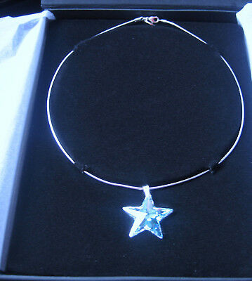 Moet Chandon Champagne Swarovski Crystal  Star Pendant Necklace Unused Valentine