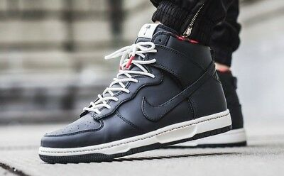 Mens Nike Dunk Ultra Size 8 Eur 42.5 (845055 002) Black/ Red/ White