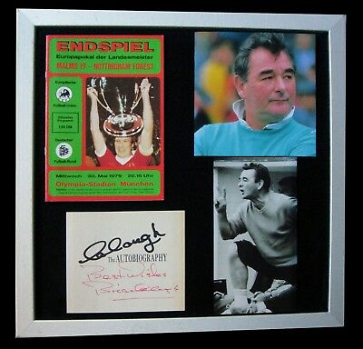 Brian Clough+Nottingham Forest+Signed+Framed+Cup=100% Genuine+Fast+Global Ship