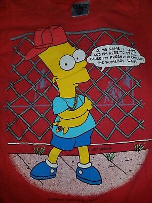 1990 Bart Simpson Kids Size S (6-8) T Shirt