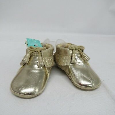 Monsoon Gold Baby Soft Sole Shoes With Tassles - 12-18 Months - New With Tags