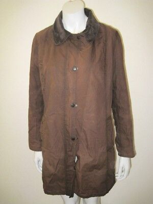 BARBOUR Brown Hampshire Sylkoil Waxed Trench Coat Size US 10