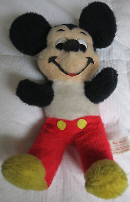 Vintage 50s Walt Disney Mickey Mouse Plush Character 15""