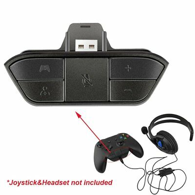 Stereo Headset Adapter Headphone Converter For Xbox One Game Controller CTIA AUX