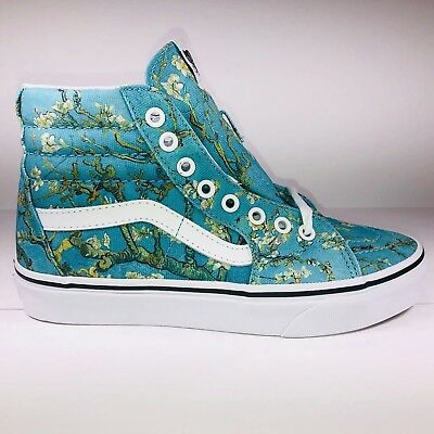 a072717499 NWT VANS SK8 Hi Vincent Van Gogh Almond Blossom Shoes Women s Size 5    Men s 3.5