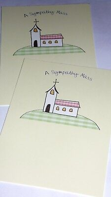 LESS 40% !! SYMPATHY MASS CARDS X 12, just 15p, FOILED, (B383