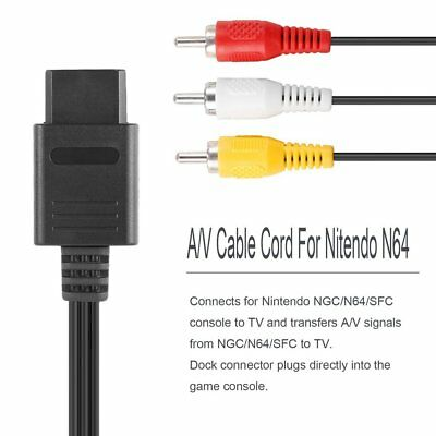 AV TV RCA Video Cord Cable For Game cube/SNES GameCube/Nintendo N64 Lot ND