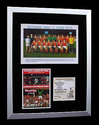 NOTTINGHAM FOREST 1978 LEAGUE CUP FINAL LTD No'd FRAMED+EXPRESS GLOBAL SHIPPING