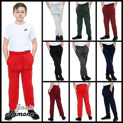 New Kids Boys Stretchy Slim Fit Jogging Bottom Sweat Sport Trouser Casual Pants