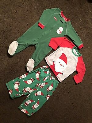 Carter's Winter Holiday Pajamas Boys Size 18 Months.