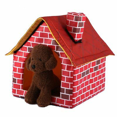 Portable Brick Dog House Warm Cozy Indoor Outdoor Great Cat Puppy Pet Bed Home N