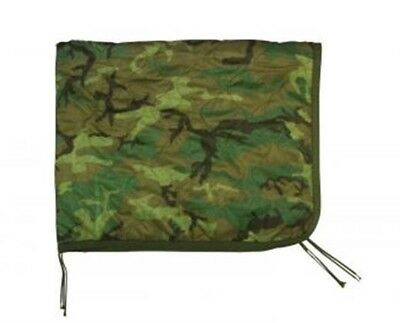 New Military Issued Camouflage Wet Weather Poncho & Woobie Blanket