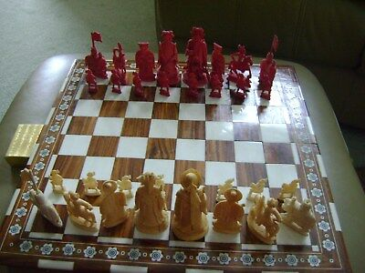 18th Century Chinese chess set - beautifully carved
