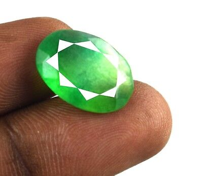 Oval Cut Green Emerald Loose Gemstone 10.70 Ct Natural Brazilian Holiday Offer