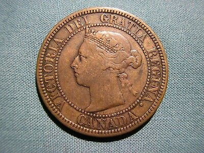 1882-H CANADA Large Cent - 1 penny coin - Nice detail