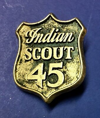"Indian Motorcycle Pin ""indian Scout 45"" ~1"" ~ Pinch Clip~ Rare Pristine!"