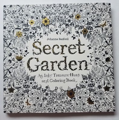 Secret Garden An Inky Treasure Hunt and Coloring Book Johanna Basford Adult New