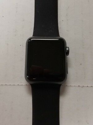 Apple Watch 1st Gen Sport Series 7000 38mm 8GB Gray With Black Band