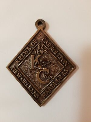 1986 Krewe of Carrollton Antique Bronze BADGE